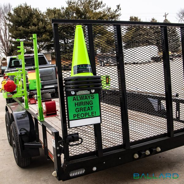 Cone Caddy on Trailer