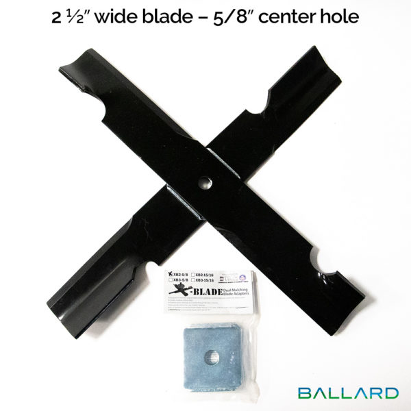 X-Blade Dual Mulching Blade Adapter (2 ½ inch wide blade - 5/8 inch center hole) - XB2