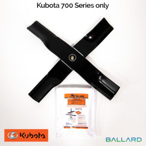 X-Blade Dual Mulching Blade Adapter - Kubota 700 Series only