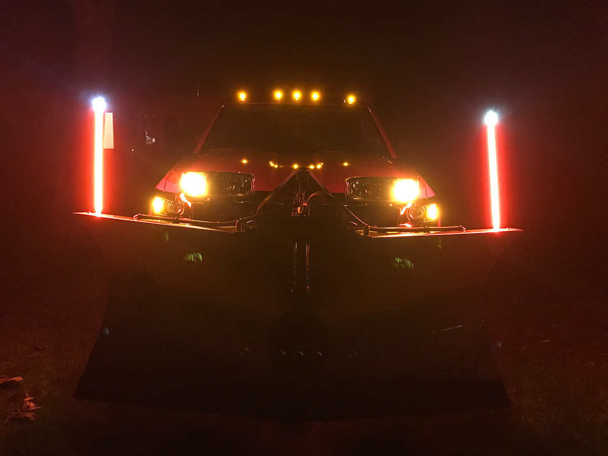 LED Illuminated Plow and Vehicle Safety Guide System